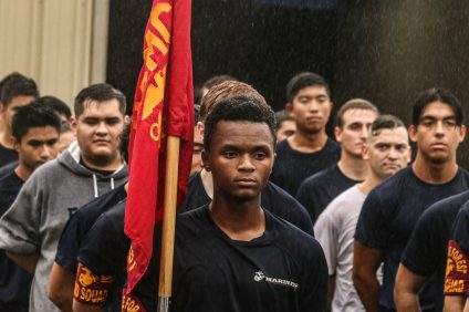 Marine recruits attend an optional pre-boot camp training session with OC Athletix in San Clemente on Saturday, Oct. 13. Photo: Eric Heinz