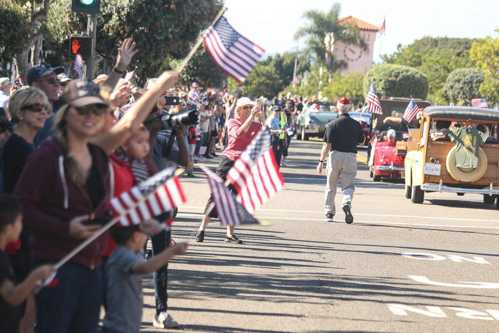 Parade viewers were dressed in red, white and blue up and down Avenida Del Mar on Nov. 9 to welcome back the 2nd Battalion, 4th Marines. Photo: Eric Heinz