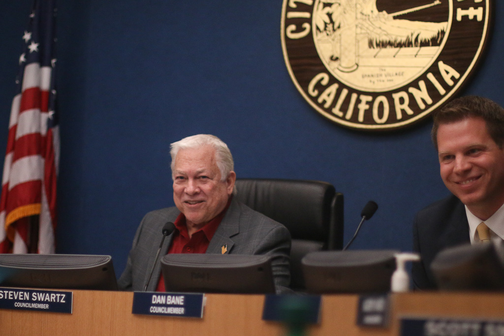 Steve Swartz, left, was selected as next year's mayor of San Clemente on Tuesday, Dec. 4, a move that strayed from the usual trend of appointing the prior year's mayor pro tem. Dan Bane, right, was selected as next year's mayor pro tem. Photo: Eric Heinz