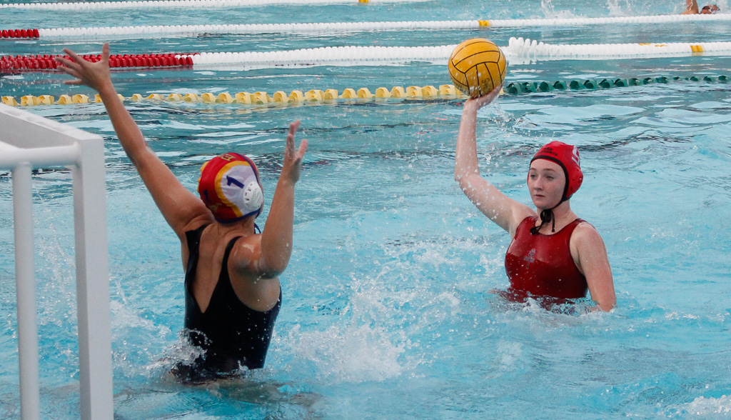 Senior Brooklyn Aguilera was one of the top scorers for the San Clemente girls water polo team last season and returns to lead a strong group. Photo: Zach Cavanagh
