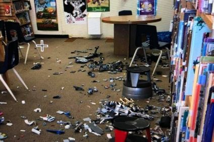 A classroom at Concordia Elementary School was vandalized just before Thanksgiving. Photo: San Clemente Life/Facebook