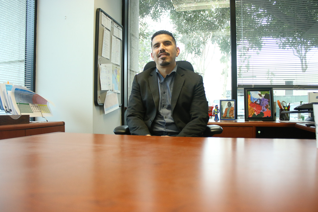Gabriel Perez started as the city's new planner on Oct. 22. With the tight requirements the city has on its building permits and specifics, his position has significant responsibility in addressing the city's needs. Photo: Eric Heinz