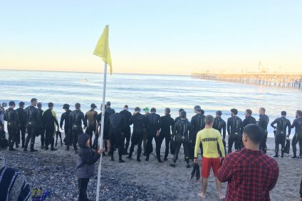 Marine Raider Challenge competitors gather prior to the start of last year's race, which started at the San Clemente Pier. Photo: Courtesy of the Marine Raider Challenge