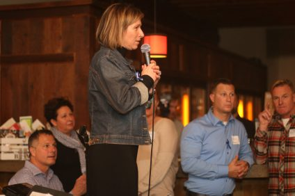 Brenda Wells talks about the latest progress i-5 Freedom Network has made in the last year. Photo: Eric Heinz