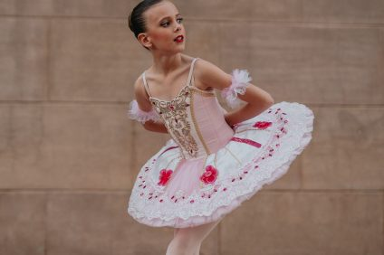 Adella Adams, 10, of San Clemente, will compete in the prestigious YAGP finals take place April 12-20 in New York City. Photo: Courtesy of Eva Nys Photography