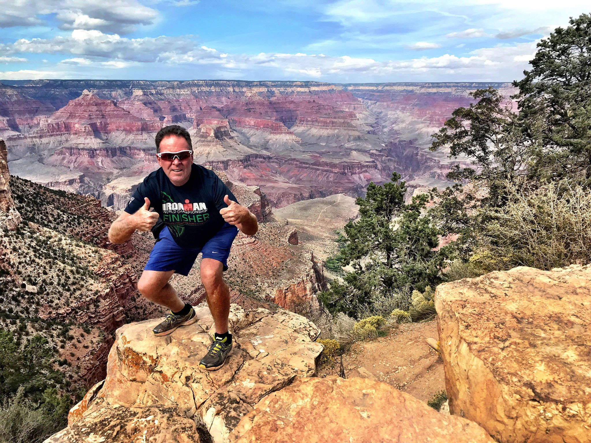 Jack Daly did the Grand Canyon, rim to rim to rim, in 2018 and said he's making plans to do it again. Photo: Courtesy of Jack Daly