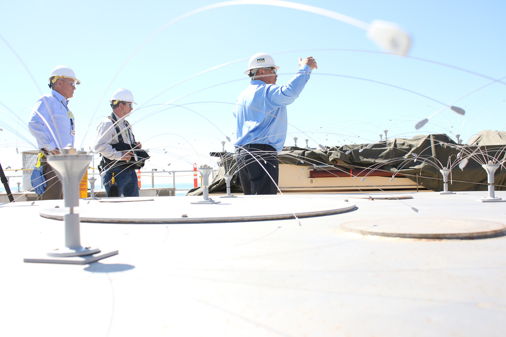 Media officials were led on a tour of San Onofre Nuclear Generating Station on March 18. Photo: Eric Heinz