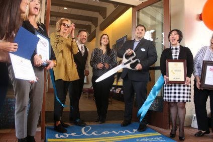 The Outlets at San Clemente cut the ribbon on its new California Welcome Center on Thursday, March 28. Photo: Eric Heinz