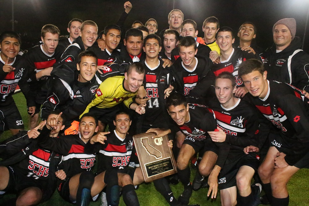 San Clemente boys soccer completed its first-ever triple crown season by winning the CIF SoCal Division I Regional Championship on Saturday, March 2 to add to South Coast League and CIF-SS titles this season. Photos: Eric Heinz