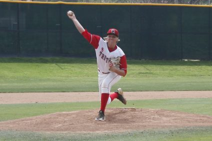 San Clemente senior Connor Wilford, a Cal Poly commit, put up another strong start for the Tritons, but untimely errors undid San Clemente's effort against league-leading Aliso Niguel. Photo: Zach Cavanagh