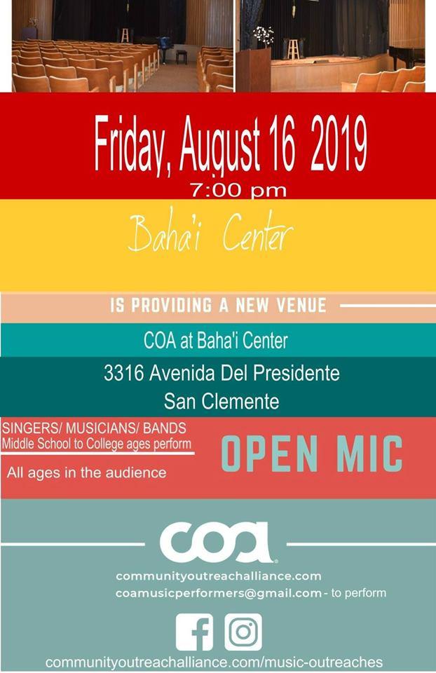 Open mic 8-2019