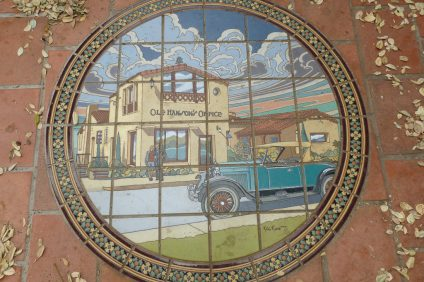 Tiles of historical renditions can be found along Avenida Del Mar in San Clemente. Photo: Courtesy of Tom Marshall