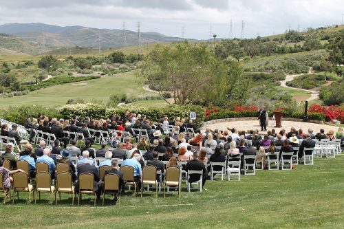 Family, friends and community members gathered Tuesday afternoon, May 21, for a funeral service honoring Steven Swartz, who served as Mayor of San Clemente before he died unexpectedly earlier this month. Photo: Cari Hachmann