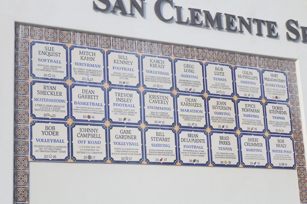 San Clemente Sports Wall of Fame. Photo: Zach Cavanagh