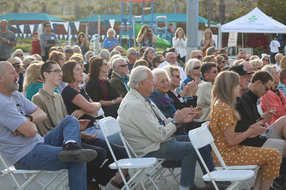Crowd at San Clemente Sports Wall of Fame. Photo: Zach Cavanagh