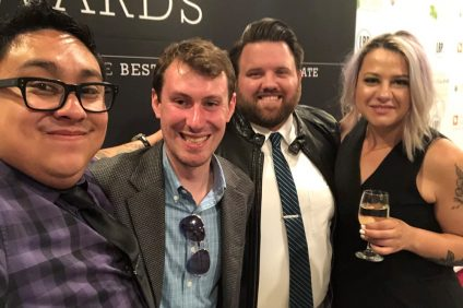 From Left, Shawn Raymundo, city editor of Capistrano Dispatch, Eric Heinz, former city editor of San Clemente Times, Zach Cavanagh, sports editor, and Lillian Boyd, city editor of Dana Point Times, pose for a picture at the 2019 California News Awards.