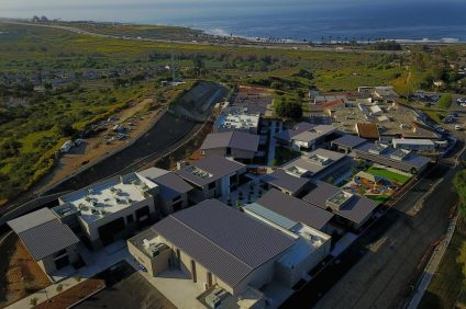 An aerial view of San Onofre School on Camp Pendleton was taken following the announcement of its opening on April 20. The school will be able to serve 900 students who are children of U.S. Marines. Photo: Courtesy of Balfour Betty