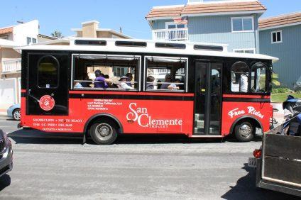 San Clemente's Trolley Service will run all summer. Photo: Cari Hachmann