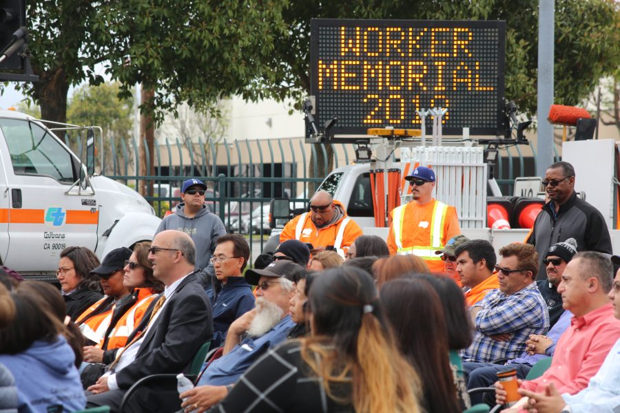 Caltrans District 12 in Orange County held its annual Workers Memorial Ceremony to pay tribute to employees who have lost their lives building, maintaining and operating California's transportation system. Photo: Courtesy of Caltrans District 12 of Orange County
