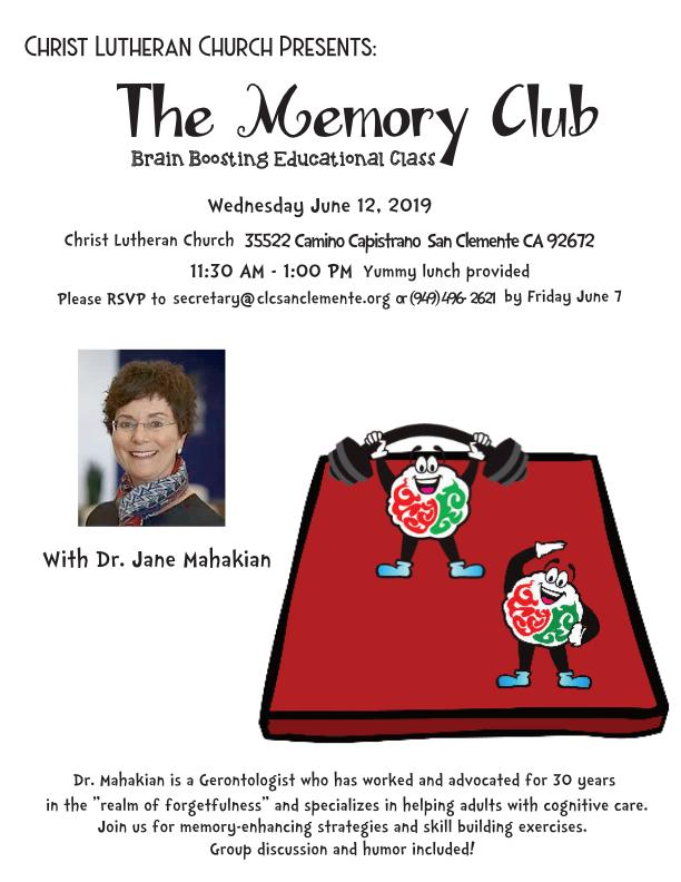the memory club 2019 june
