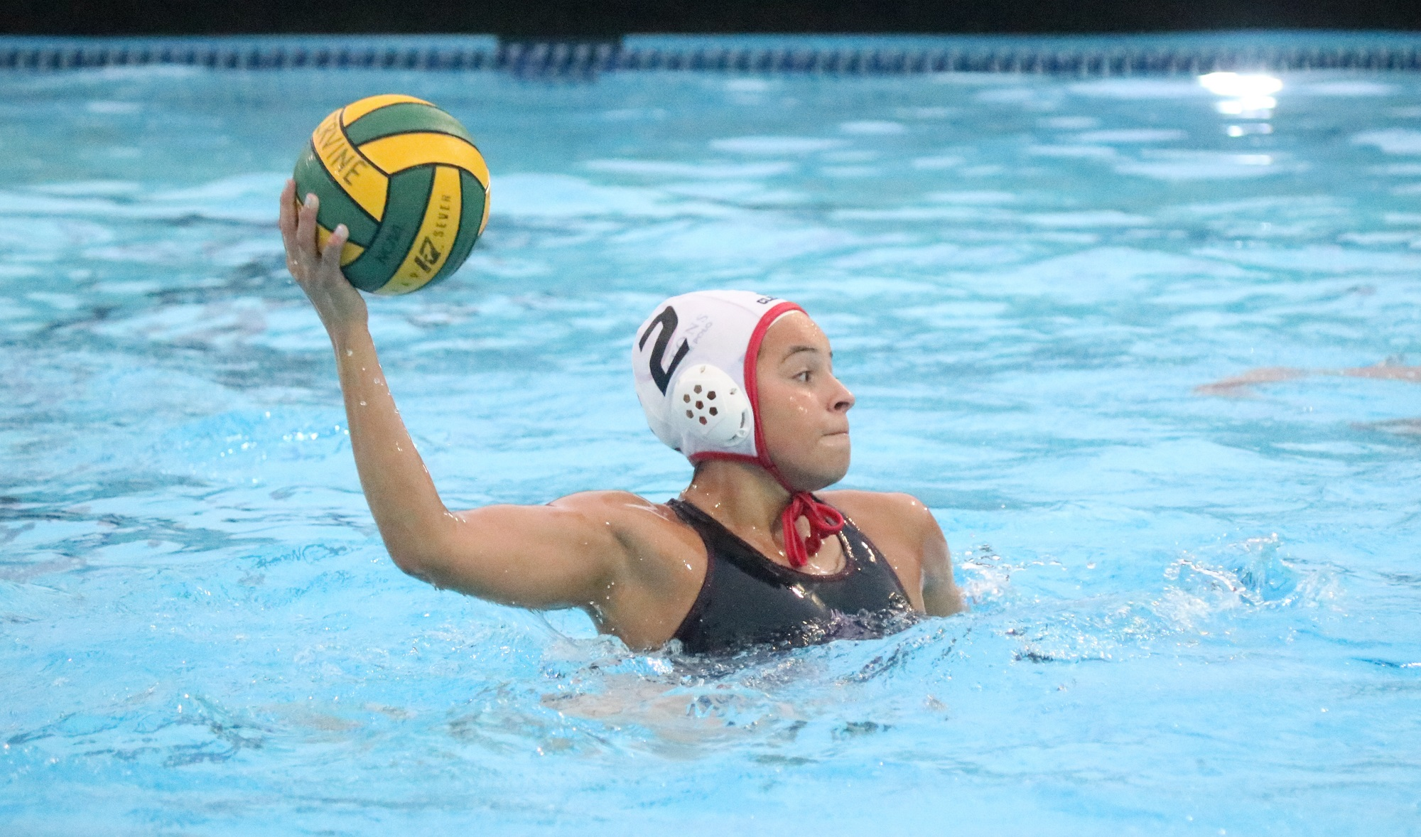 San Clemente girls water polo player Brooklyn Aguilera led the Tritons in goals on their way to the CIF-SS Division 2 title game. Photo: Zach Cavanagh