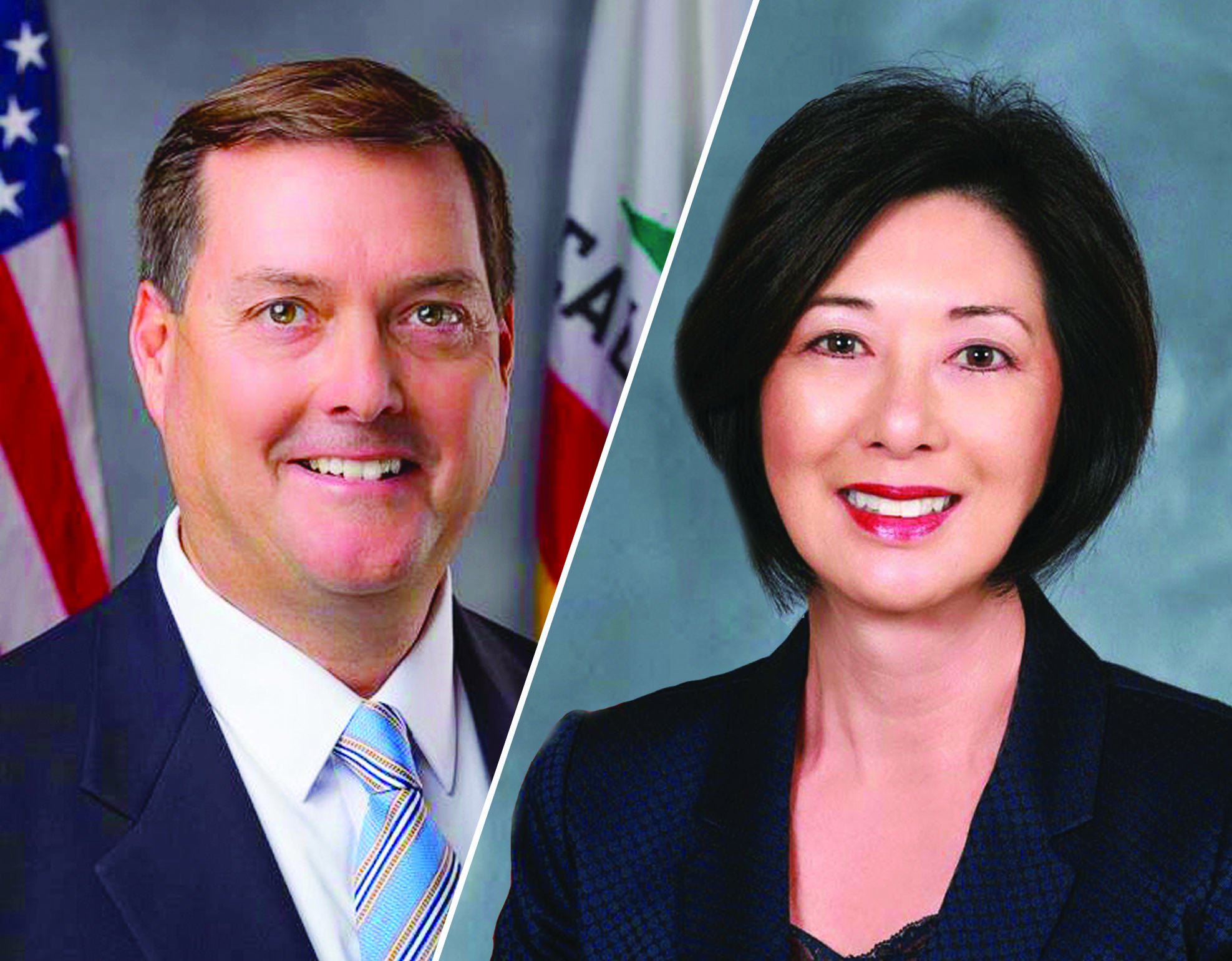Assemblymember Bill Brough is currently facing accusations of sexual misconduct from a handful of women including Orange County Supervisor Lisa Bartlett. Photo: Courtesy of the office of Brough and Bartlett
