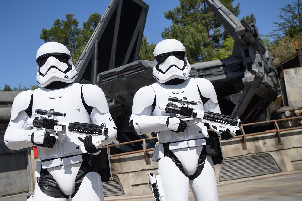 Star Wars: Galaxy's Edge at Disneyland Park in Anaheim, California, and at Disney's Hollywood Studios in Lake Buena Vista, Florida, is Disney's largest single-themed land expansion ever at 14-acres each, transporting guests to Black Spire Outpost, a village on the planet of Batuu. Guests will discover two signature attractions. Millennium Falcon: Smugglers Run, available opening day, and Star Wars: Rise of the Resistance, opening later this year.  (Richard Harbaugh/Disney Parks)