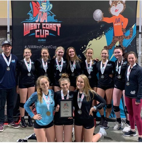 The San Clemente Volleyball Club's girls 16s won the JVA West Coast Cup and will compete at the AAU National Championships on June 25 in Florida. Photo: Courtesy of Jen Beard