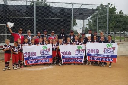 Three teams from San Clemente Girls Softball won district titles and will compete at the state championships on June 28 in Lancaster. Photo Courtesy of Stephanie Stokes
