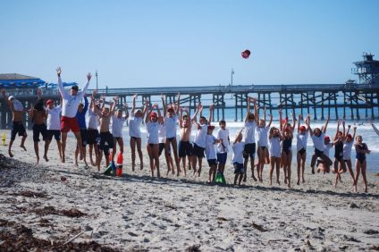 From lessons in water safety to beach games, there's lots of reasons to jump for joy when you're a junior lifeguard.  Photo Courtesy of the San Clemente Lifeguard & Junior Guard Foundation