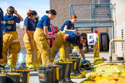 Orange County Fire Authority hosted its first-annual Girls Empowerment Camp for more than 50 teenagers this past weekend in Irvine. Photo: Courtesy of OCFA