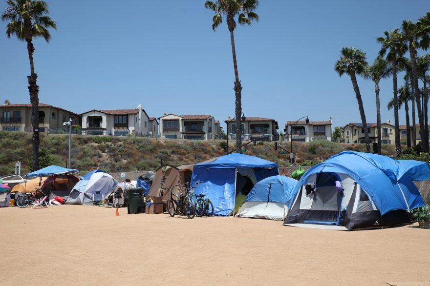 The city of San Clemente is currently in litigation with three homeless advocacy groups over the civil rights of those camping at the city's designated lot for the homeless. Photo: Adam Gilles
