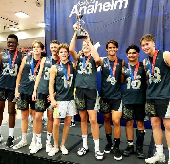 949 Volleyball Club's 16s earned silver at the USA Volleyball Boys Junior National Championships on July 7 in Dallas. Photo: 949 Volleyball Club