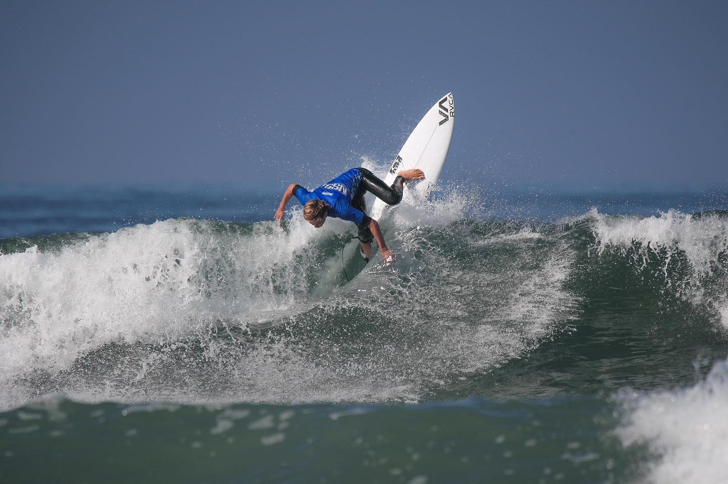 Taj Lindblad applying his backside attack to great effect en route to winning the 2019 NSSA National Title. Photo: NSSA