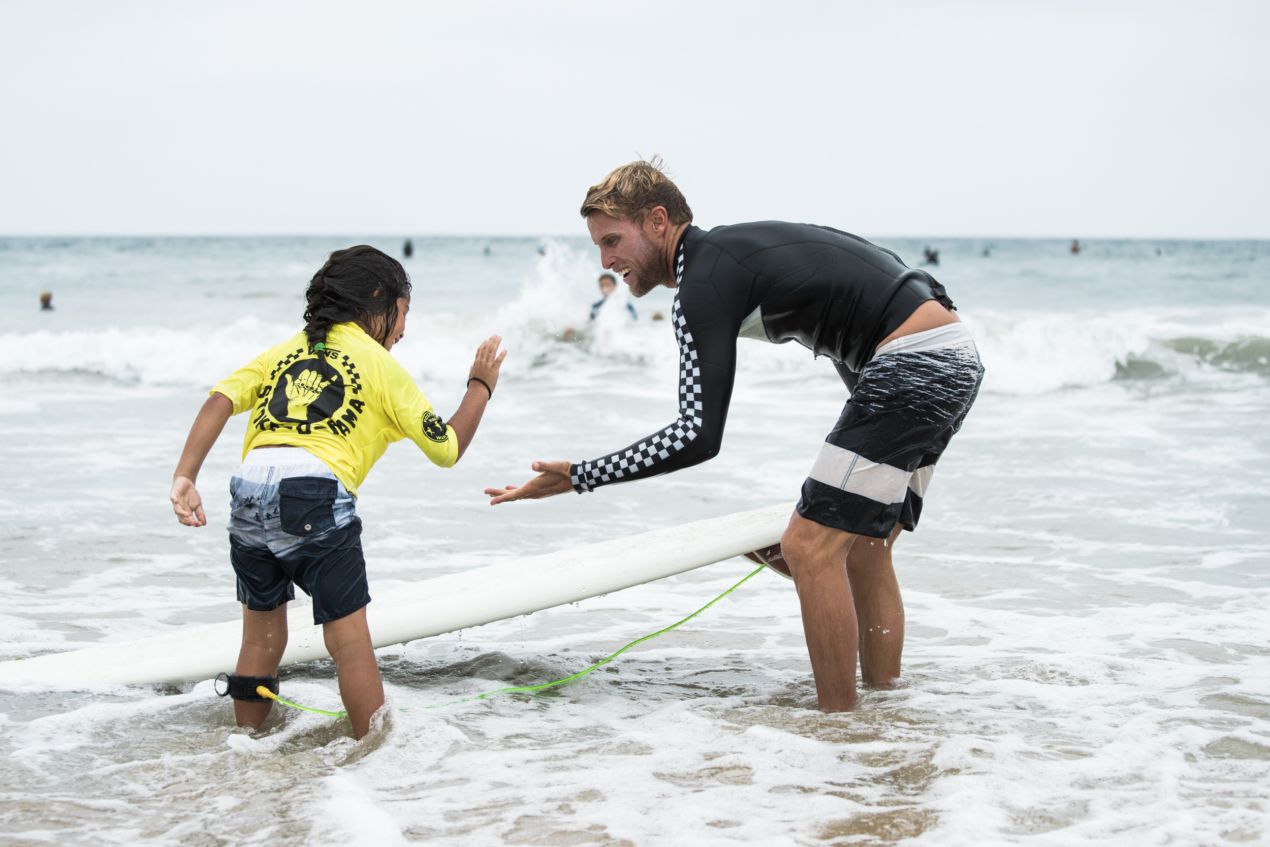 Pat Gudauskas and friend keeping the vibe alive at a Stoke-O-Rama contest last summer. Photo: Jimmy Wilson / Vans