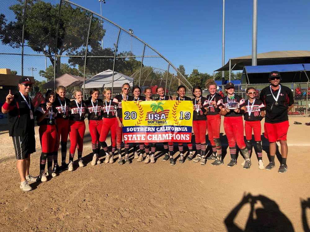 San Clemente Girls Softball 14U captured the USA Softball Southern California State Championship on June 8 in Lancaster. Photo: Stephanie Stokes