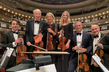 From left, San Clemente's Stefan Kosmala-Dahlbeck, Jerzy Kosmala, Weneta Kosmala and Kasia Kosmala-Dahlbeck were joined by Weneta's nephew and brother, Konrad and Witold Kosmala, performing in July with Millennial Choirs and Orchestras at New York City's Carnegie Hall. Courtesy of Kosmala-Dahlbeck family.