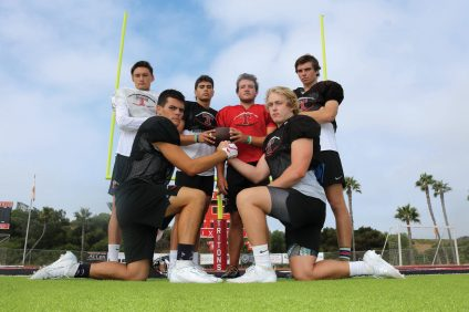 "San Clemente High School football has embraced a ""next man up"" mentality to fill spots opened by graduated players to try and repeat as league champions. Photo: Zach Cavanagh"