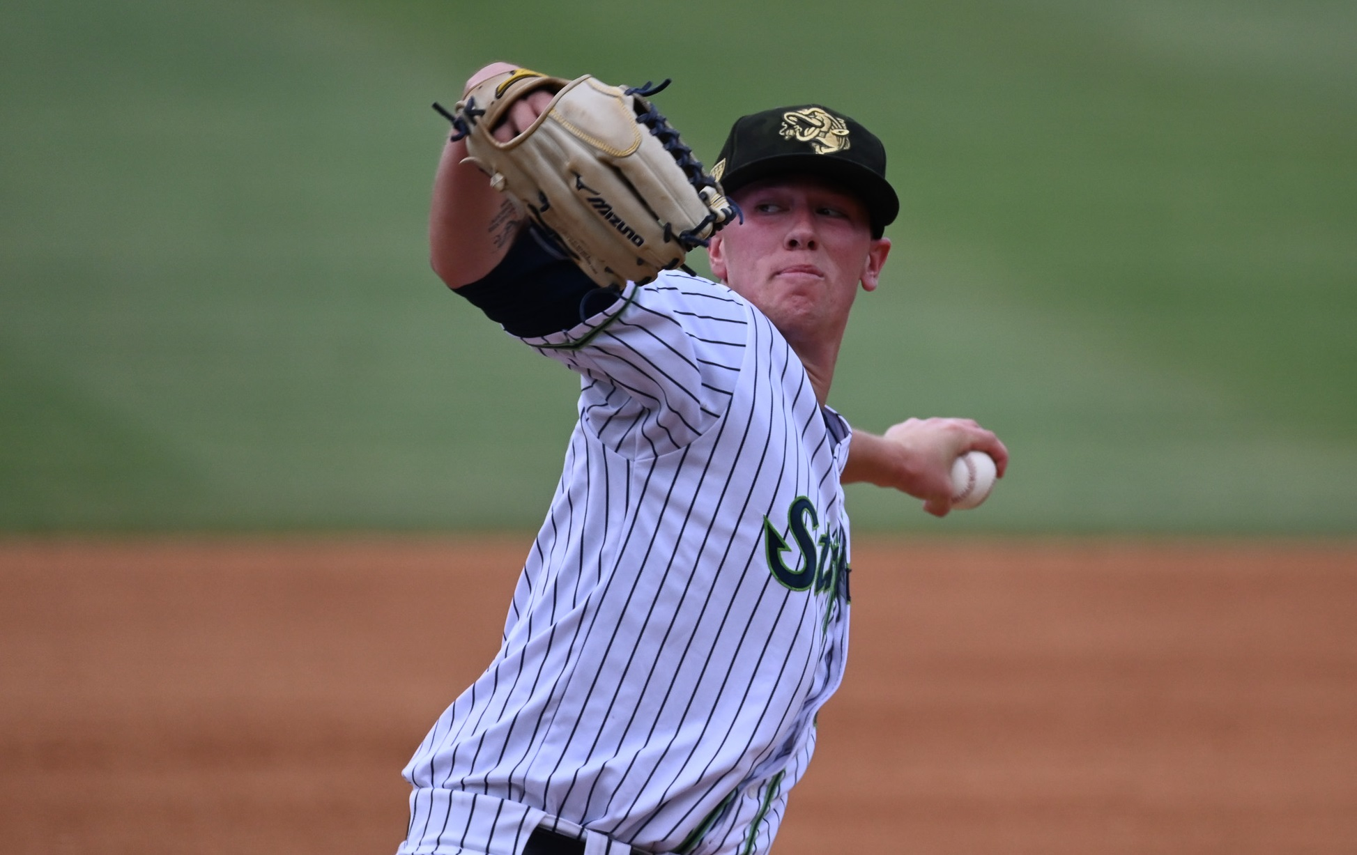 San Clemente alum Kolby Allard pitched his last game in the Atlanta Braves system for the AAA Gwinnett Stripers on July 27. Allard was traded to the Texas Rangers on Tuesday, July 30 and will pitch for the AAA Nashville Sounds. Photo: Jamie Spaar/Gwinnett Stripers