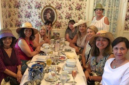 Sunday Sisters Book Club:  Left to right: Alba Farfaglia, founder Roxanne Garza, Maggie Sforza, Patty Mew. Nancy Swan. Candy Starkey, Lori Kantor (standing), Hilary Peter, Cassandra Alarcón, Patricia García Morvay Photo: Courtesy